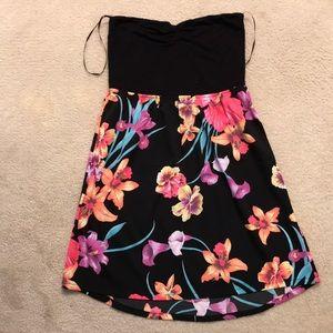 Roxy tube floral dress